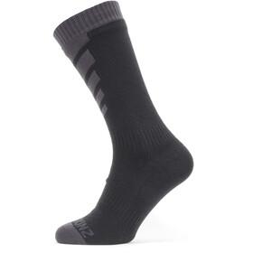 Sealskinz Waterproof Warm Weather Skarpetki Mid Length, black/grey